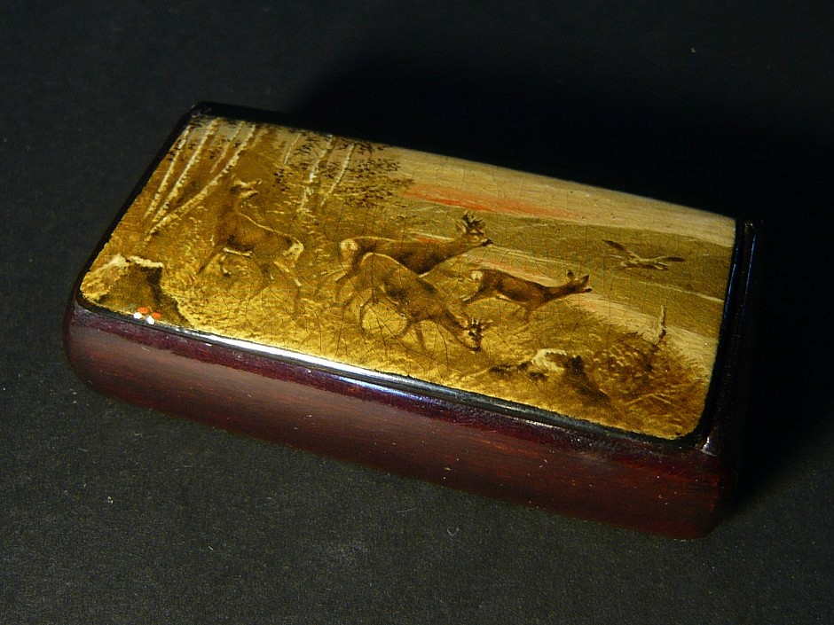 Snuffbox with print image