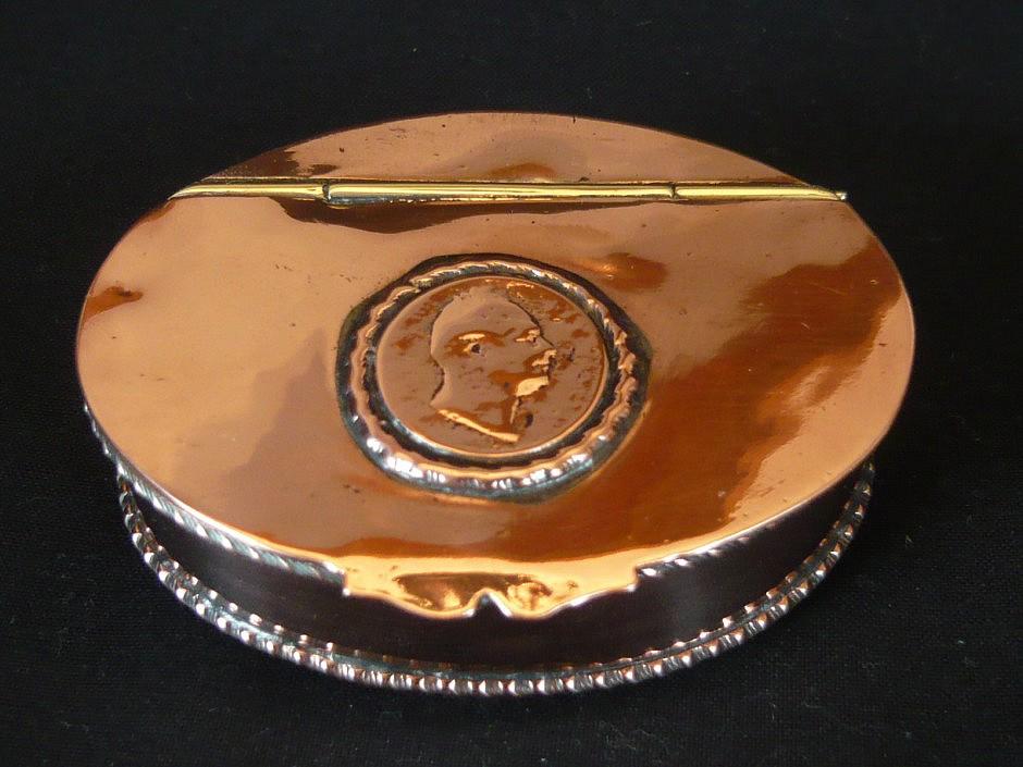 snuffbox made off copper