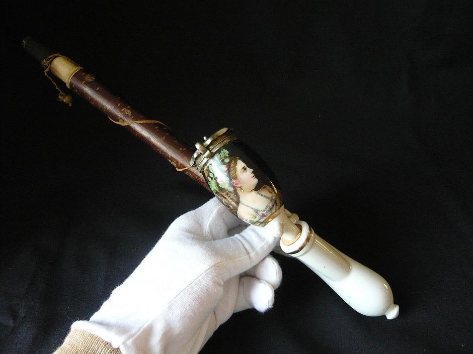 Porcelain pipe, German form (Gesteckpfeife)