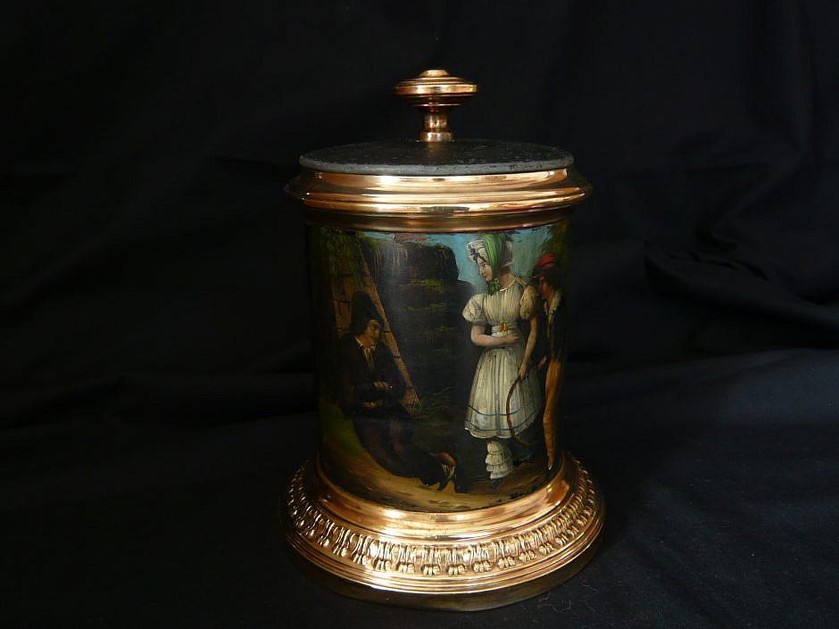 Antique tobacco pot