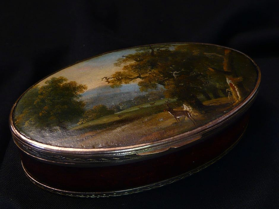 Paper Mache Antique Snuffbox